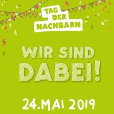 Wir sind angemeldet Tag der Nachbarn, eine Initiative der Stiftung nebenan.de